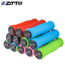 Ztto Silicone Durable Gel Shock Proof Bicycle Grips with Bar end For Mtb Bike