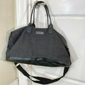 John Varvatos Gray Weekender Overnight Gym Travel Duffle Bag