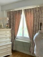 "LAURA ASHLEY CURTAINS contemporary chic ""MARCHMONT"" arabesque ART DECO scrolls"