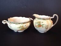 Johnson Brothers Pedestal Sugar And Creamer - Old Staffordshire Pattern  England