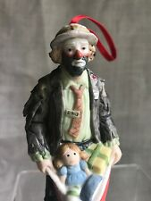 1991 Emmett Kelly Jr. Porcelain Bisque Figurine Flambro Christmas 5� Tall w Tag