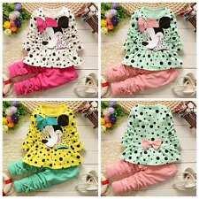 2pcs Newborn Infant Baby Boy Girl Clothes T-shirt Tops+Pants Minnie Outfits Set