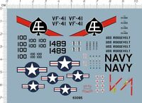 Detail Up 1/144 US Air Force USAF F4 Phantom VF41 VF-41 Fighter Model Kit Decal