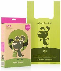 "Biodegradable Dog Poop Bags Waste Bags Scented w Easy-Tie Handles 13.5x7"" 120 ct"