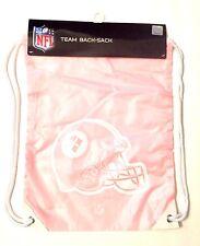 Pittsburgh Steelers BCA Pink Drawstring Cinch Bag Tote Backpack Sack - New