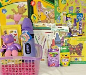NEW CRAYOLA ART EASTER TOY GIFT BASKET LEARNING TOYS BIRTHDAY SCHOOL SUPPLIES