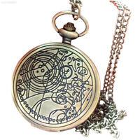 DDCA Retro Pocket Watch Quartz Watches Pendant Necklace Men Women Gift Brass Yel