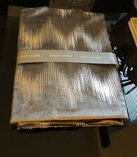 "Brand New 54"" Mink Beige Silver Print Pair of Velvet Fully Lined Eyelet Curtains"