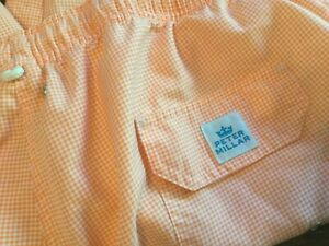 "Peter Millar Men's Swim Trunks Lined  8"" Swim Suit Shorts Sz 2XL"
