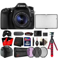 Canon EOS 80D DSLR with 18-55mm Lens , 288 LED Light and Accessories