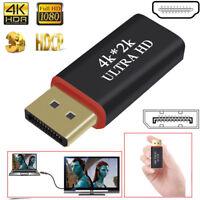 ~4K*2K DP Display Port To HDMI Adapter DisplayPort AV Converter For HDTV Monitor