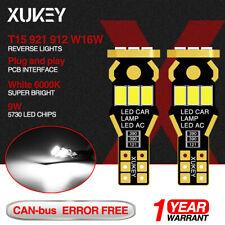 2X Car T15 921 912 LED Lights Wedge Bulbs Backup Reverse Tail Lamp White 12V W16