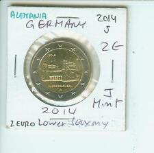 2014 GERMANY 2€ 2 EURO COMMEMORATIVE NIEDERSACHSEN Lower Saxony J Hamburg Mint