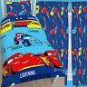 "Disney Cars Piston Single Duvet & Matching 54"" or 72"" Drop Curtains Bed Set"