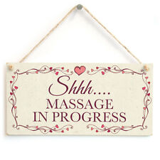 Shhh…. Massage In Progress - Small Hanging Sign Home Massage Salon Quiet Please