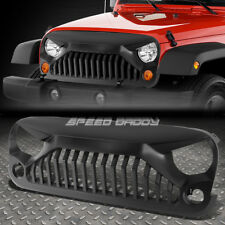 FOR 07-17 WRANGLER JK BLACK FRONT BUMPER/HOOD ANGRY BIRD ABS GRILL/GRILLE/FRAME