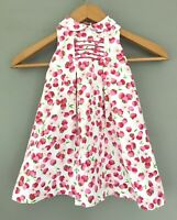 Sarah Louise England Little Girls Toddler Strawberry Sleeveless Pleated Dress