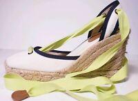 J.Crew Women's White Espadrilles Lace Up Wedge Sandals ! Size 6