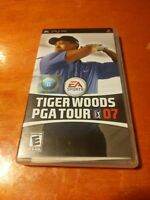 Tiger Woods PGA Tour 07 PlayStation Portable PSP EA Sports