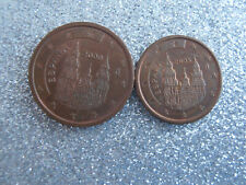 SPAIN 2000 2 Euro Cents & 2005 1 Euro Cent Coin - Espana