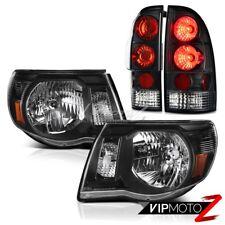 For 05 06 07 08 09 10 11 Toyota Tacoma TRD Black Headlight Headlamp Tail Lights