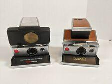 Polaroid SX-70 Land Camera & Sonar OneStep Black Leather - Parts/Repair