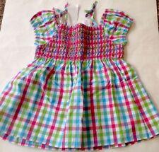 NWT GYMBOREE Pink Green Blue PLAID SMOCKED Shirt/Top 5/5T Girl *27