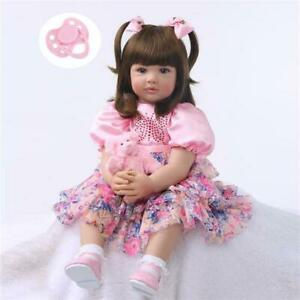 """24"""" Lovely Lifelike Simulation Baby Golden Curly Beautiful Girl Child Toy Gifts"""
