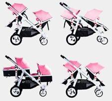 * BabyFiveStar GESCHWISTERWAGEN ZWILLINGSWAGEN KINDERWAGEN BUGGY NE269-5 NEU OVP