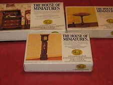 The House of Miniatures Collection, Clock,Table, and Desk, For Mini Doll House