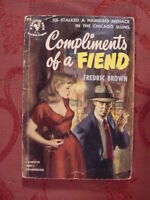 RARE COMPLIMENTS of a FIEND by FREDRIC BROWN 1st BANTAM Paperback EDITION