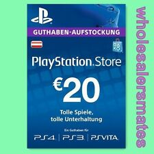 AT €20 Playstation Network Card Key PSN 20 EUR Prepaid Karte PS3 PS4 Österreich
