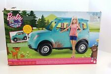 New Barbie Camping Fun Doll And Vehicle Blue Suv! (27B)