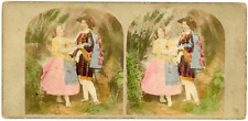 """Stereo, Angleterre, """"The Cap Cavalier & the Mountain Rose"""" Vintage stereo card -"""