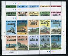 Grenada 11931/60 postfrisch 3 Kleinbogen / Eisenbahn ....................2/11474