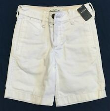 NWT!!  Bright Off-White Boys Twill Shorts By Abercrombie Kids Sz 8