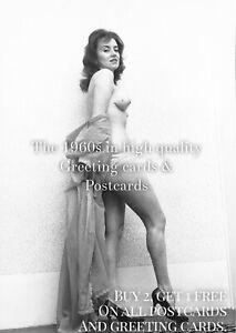 P41. Raymonds Revue 1961. 1960s Postcard. Topless Lapdancing Playboy.