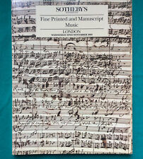 SOTHEBY's catalogue:  London 1989  Fine Printed and Manuscript Music