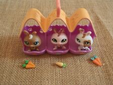 Littlest Pet Shop Bunny Triplets Petriplets Rabbits Bunnies Set Pets Lot