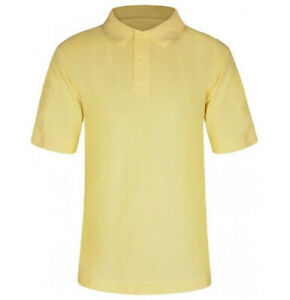 Boys Girls Plain Polo Shirt School P.E Sports GYM Ages 3-16 Years 100% Cotton