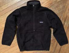 Men's Patagonia Synchilla Marsupial 1/2 zip pullover fleece Black size Xs New