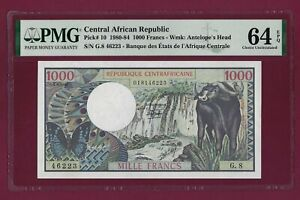 Central African Republic 1000 FRANCS 1980 - 1984 P-10 UNC graded