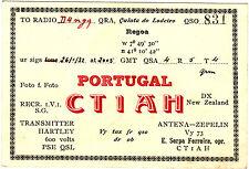 QSL Card PORTUGAL 1932 Funk Karte Radio CT1AH     ( 80436