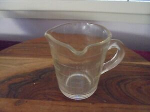 Vintage  Clear Glass 1 Cup/8oz Measuring Jug