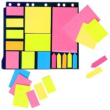 Neon Colours Memo Stickers File Sticky Note Index Tabs Home School Office Binder