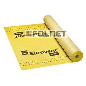 KLIMAMEMBRAN AKTIVE DAMPFBREMSE Eurovent Aktiv NEU (1 ROLLE 75 M2)