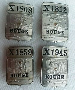 4 Ford workers employee ID badges Rouge NOT Highland Park National LOW NUMBERS