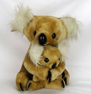 Vintage Koala Bear Plush Conesco Chase Mama Baby