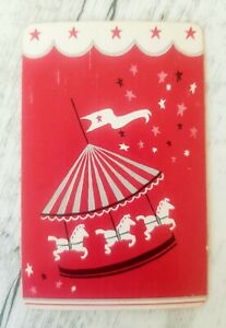 Swap Card, Vintage Carousel, Collectable Horse Playing Card