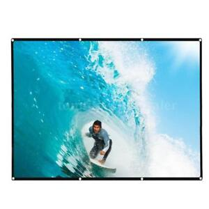 """Foldable In/Outdoor 120"""" HD 4:3 Projector Projection Screen Movie Cinema Theater"""